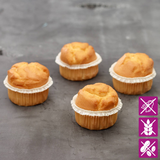 Vanille Muffins glutenvrij 4 stuks
